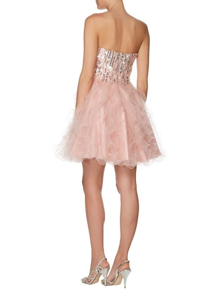 ANOUSHKA G Cara short embellished prom dress
