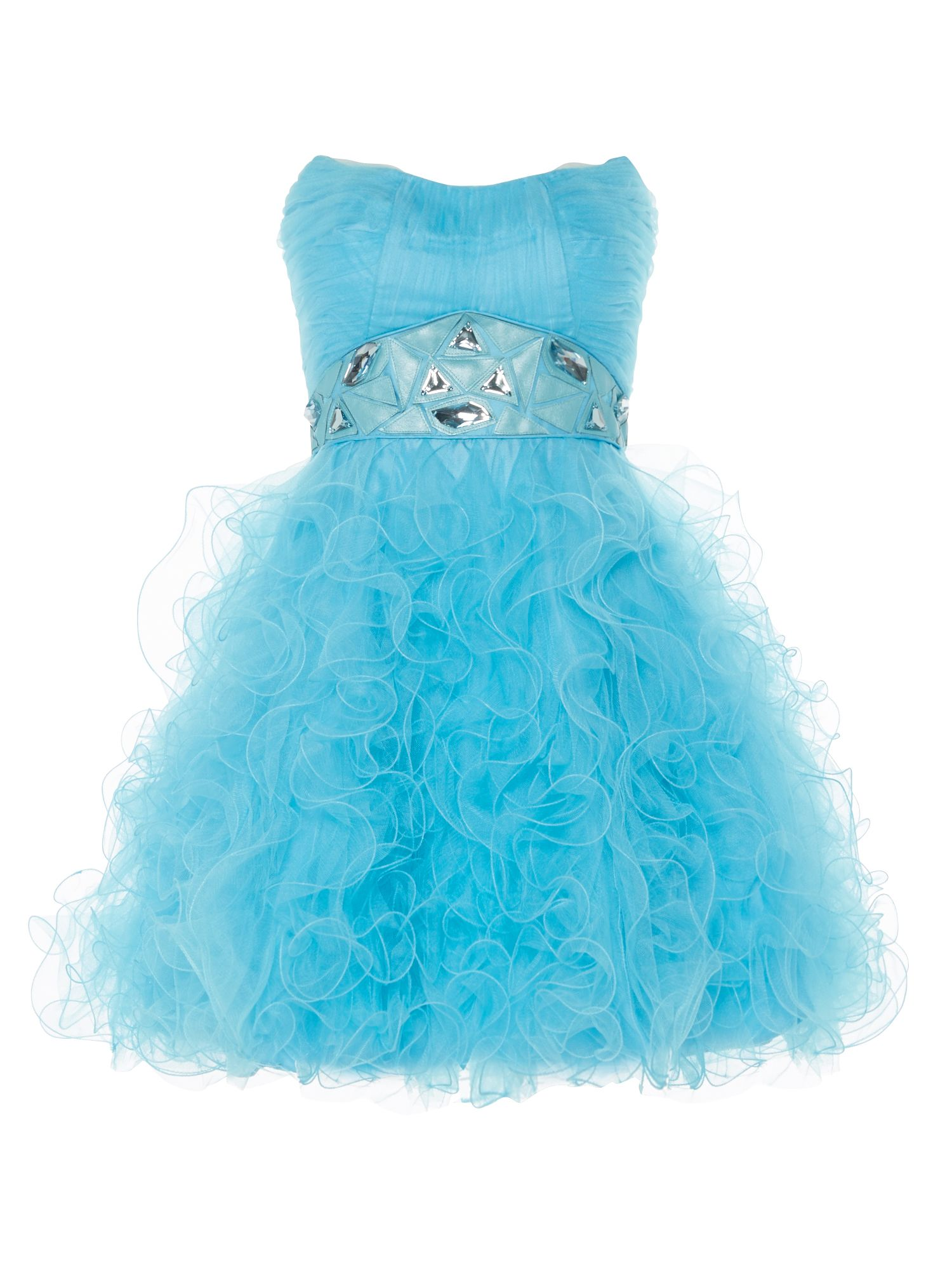 ANOUSHKA G Tara short tulle prom dress, Blue