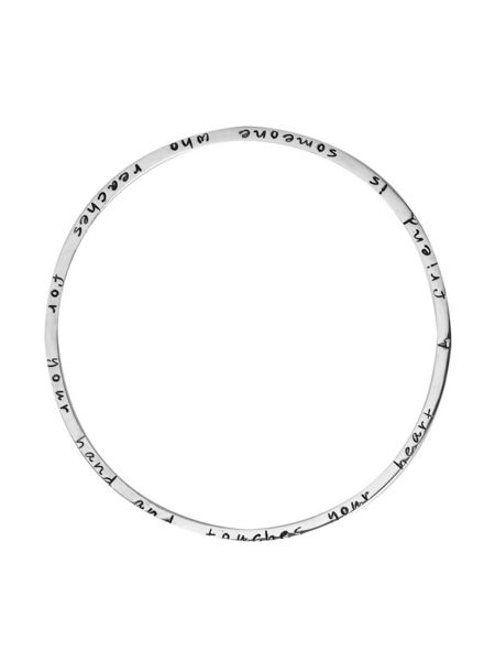 Joulberry Friendship poem silver bangle