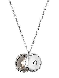 Love you today silver locket
