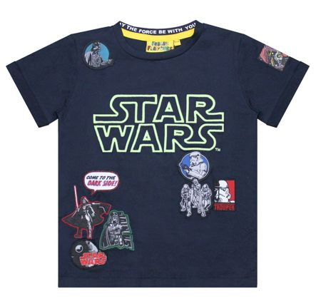 Fabric Flavours Boys Star Wars Glow in the Dark T-shirt