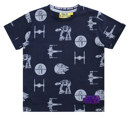 Fabric Flavours Boys Star Wars Transporter T-shirt