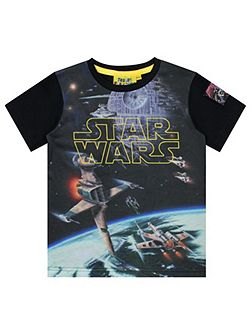 Boys Star Wars Logo Spacescape T-shirt