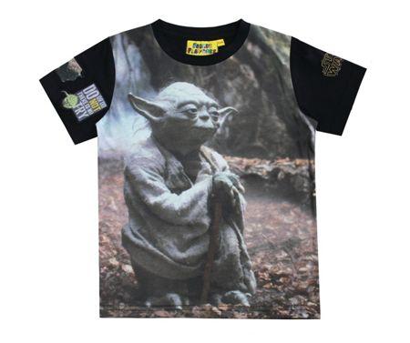 Fabric Flavours Boys Star Wars Yoda Photographic T-shirt
