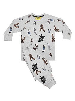 Boys Star Wars Character Print PJ
