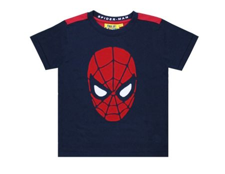 Fabric Flavours Boys Spiderman Face Applique T-shirt