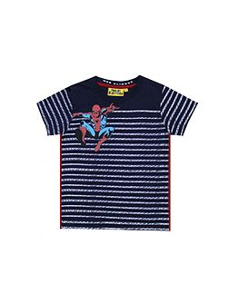 Boys Spiderman Web Stripe T-shirt