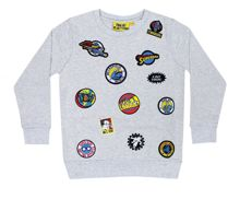 Fabric Flavours Boys Superman Badge Sweatshirt