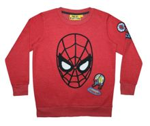 Fabric Flavours Boys Spiderman Face Badge Sweatshirt