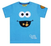 Fabric Flavours Kids Cookie Monster Face T-shirt