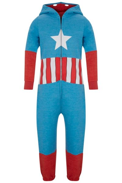 Fabric Flavours Boys Captain America Onesie