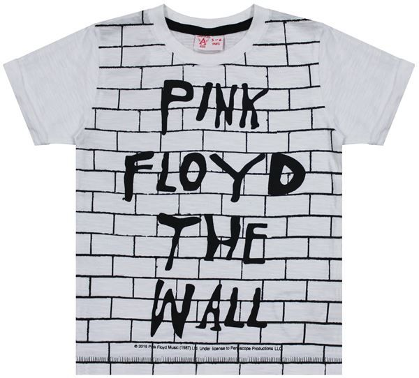 Amplified Kids Amplified Kids Pink Floyd Off The Wall T-Shirt, White