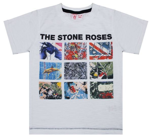 Amplified Kids Amplified Kids Kid`s Stone Roses T-shirt, White
