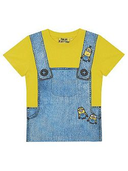 Kids Minions Dungaree Print T-shirt