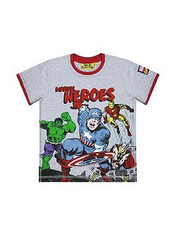 Fabric Flavours Kids Marvel Heroes T-shirt