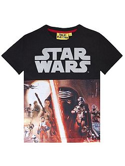 Boys Star Wars Reflective Print T-shirt