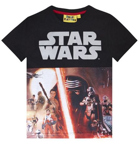 Fabric Flavours Boys Star Wars Reflective Print T-shirt