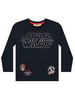 Kids Star Wars Reflective Print T-Shirt