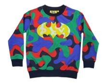 Fabric Flavours Boys Batman Camo & Cheille Sweatshirt