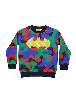 Boys Batman Camo & Cheille Sweatshirt