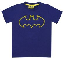 Fabric Flavours Boys Batman Tuft Logo T-Shirt