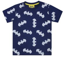 Fabric Flavours Boys Batman Metallic Repeat T-Shirt