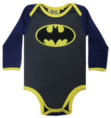 Fabric Flavours Boys Batman Logo Babygrow