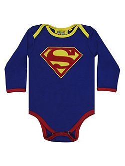 Boys Superman Logo Babygrow