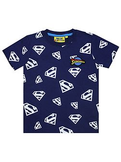 Boys Superman Glow In The Dark T-Shirt