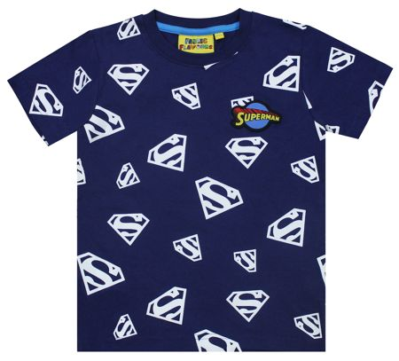 Fabric Flavours Boys Superman Glow In The Dark T-Shirt
