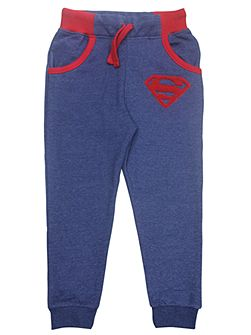 Boys Superman Logo Denim Sweatpants