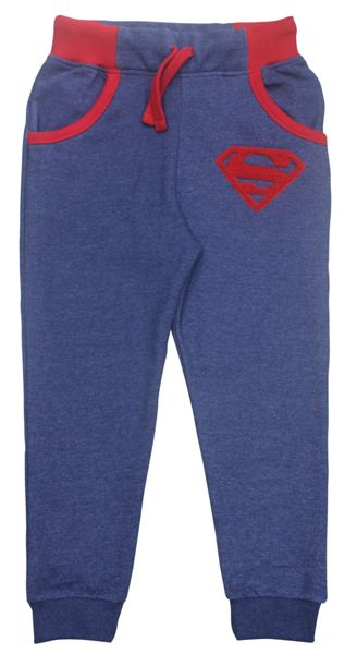Fabric Flavours Boys Superman Logo Denim Sweatpants