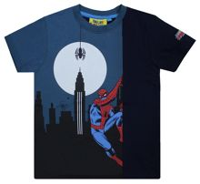 Fabric Flavours Boys Spider-Man Glow In The Dark T-Shirt