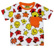 Fabric Flavours Kids Mr Men Repeat Print Red T-Shirt