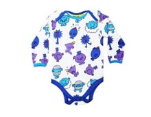 Fabric Flavours Baby Mr Men Repeat Print Babygrow Blue
