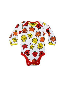 Baby Mr Men Repeat Print Babygrow Blue