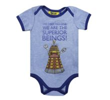 Fabric Flavours Baby Dr Who Dalek babygrow