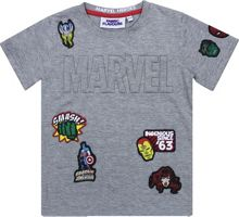 Fabric Flavours Kids Marvel Embossed Badge T-Shirt