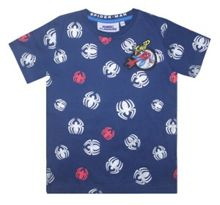 Fabric Flavours Kids Spider-Man Repeat Print T-Shirt
