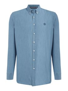 Gloverall 100% cotton washed chambray shirt