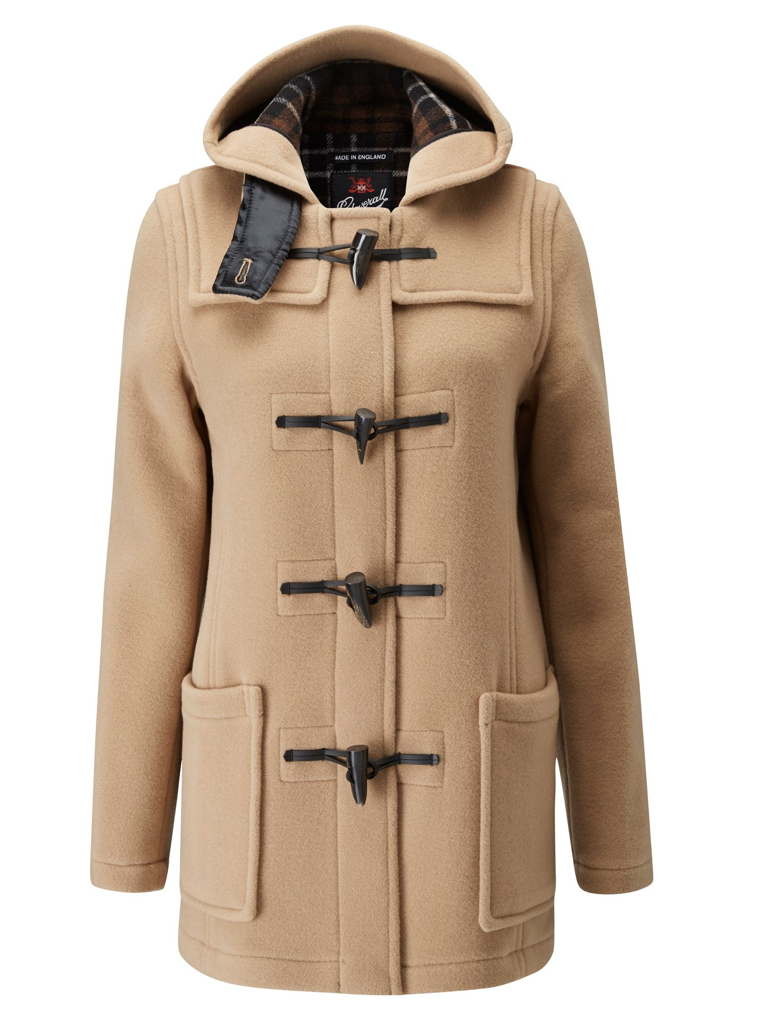 Gloverall Mid Length Slim Duffle Coat Camel