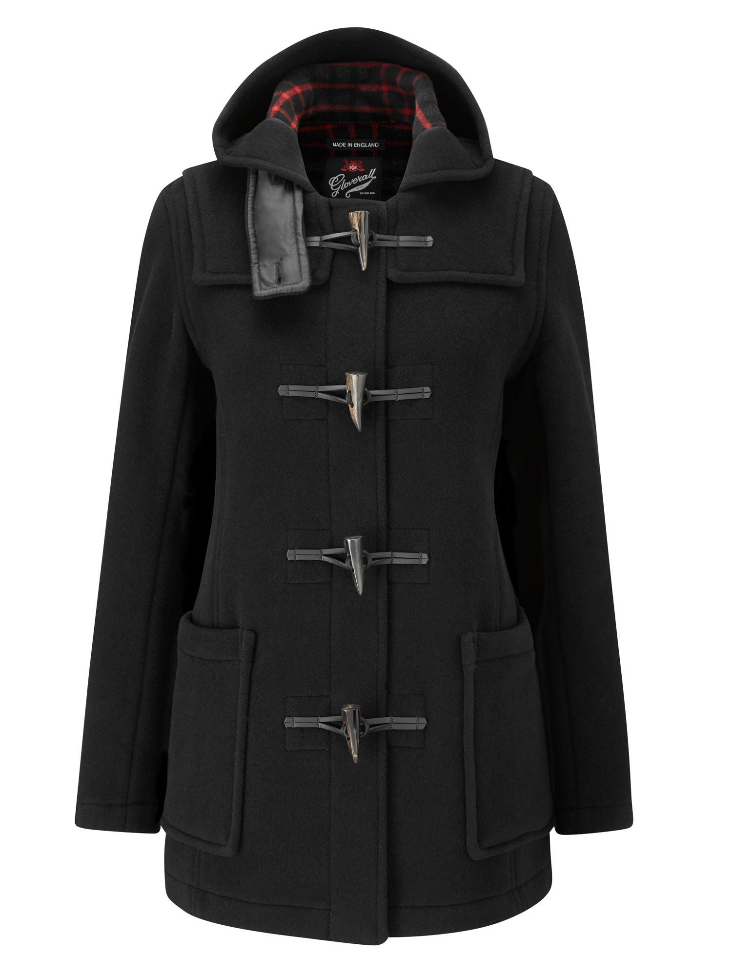 Gloverall Mid Length Slim Duffle Coat Black