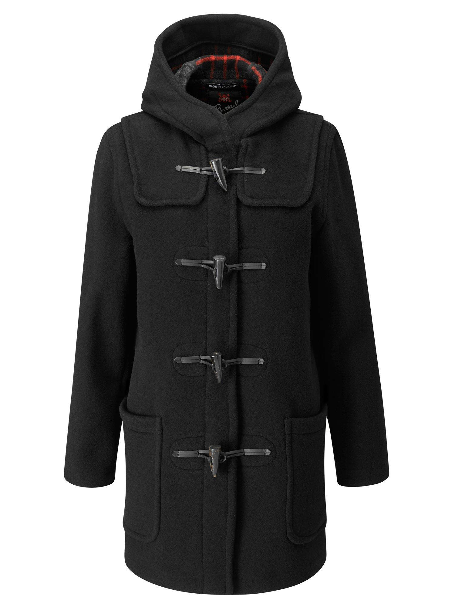Gloverall Mid Length Original Fit Duffle Coat, Black