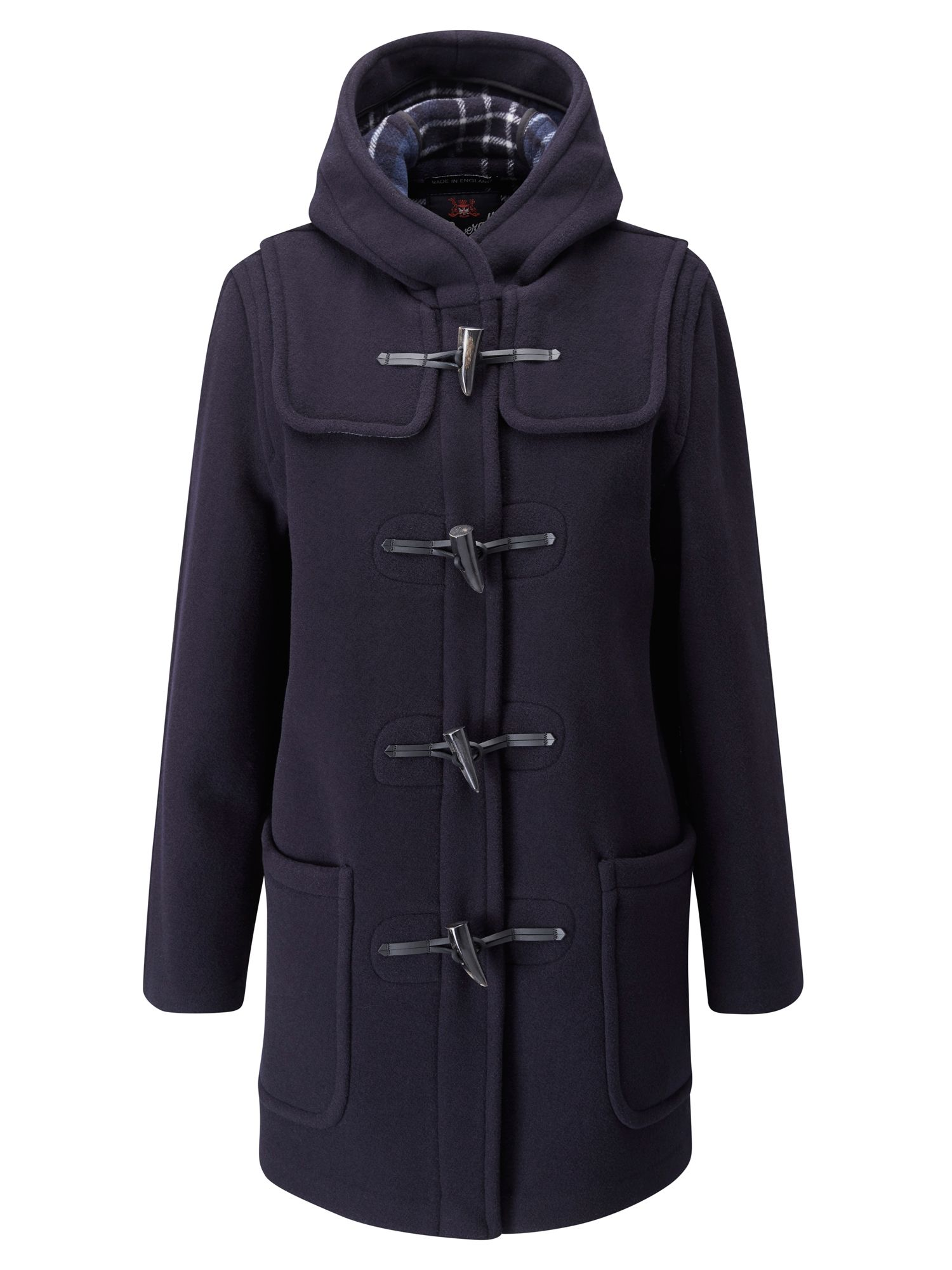Gloverall Mid Length Original Fit Duffle Coat, Blue