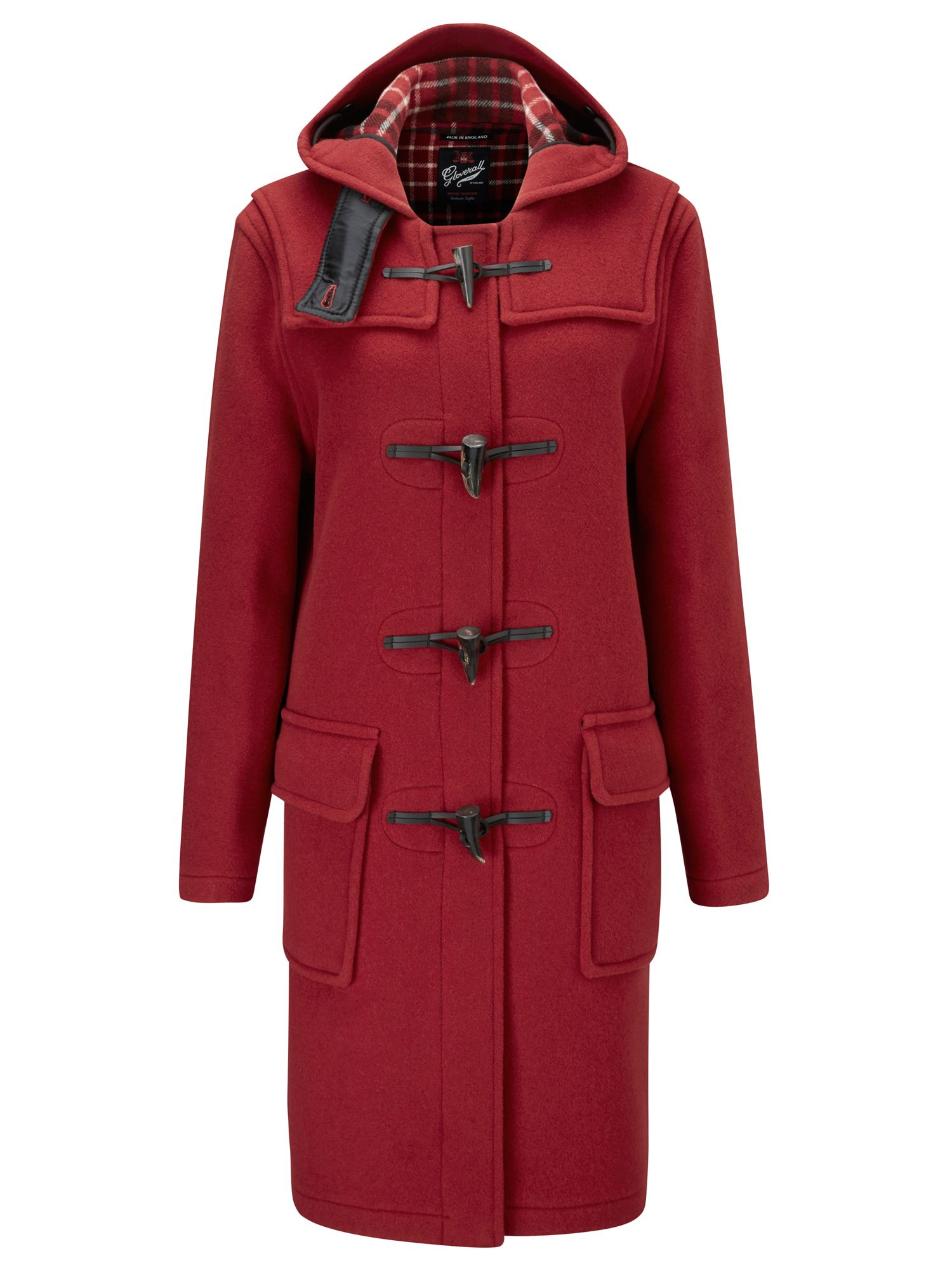 Gloverall Long Original Fit Duffle Coat, Red