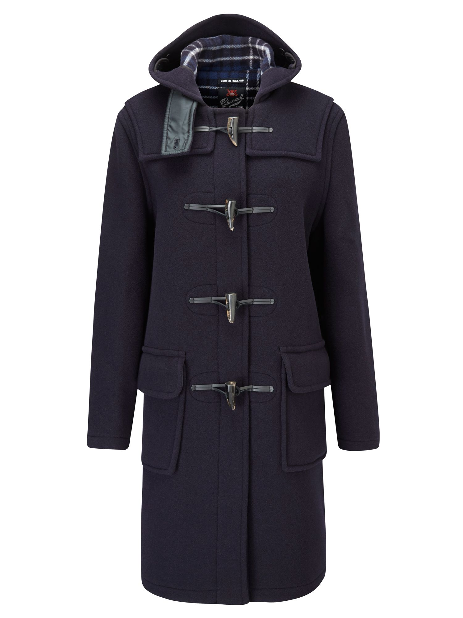 Gloverall Long Original Fit Duffle Coat, Blue