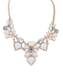 Ruby Rocks White gem necklace
