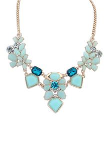 Ruby Rocks Blue gem necklace