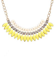 Ruby Rocks Bright yellow & gem necklace
