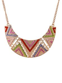 Ruby Rocks Jewel triangle necklace